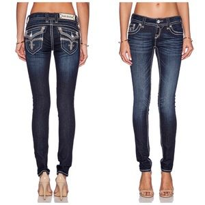 Rock Revival Jen Skinny Jeans Dark Wash Size 28